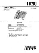 Buy Sony it-d20 Service Manual. by download Mauritron #241696