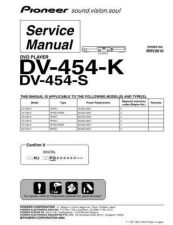 Buy Pioneer dv-454-k-1 Service Manual by download Mauritron #234264