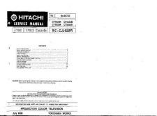 Buy Hitachi CT1904-2 Service Manual by download Mauritron #261274