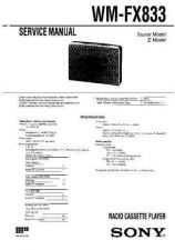 Buy Sony WM-FX777 Service Manual. by download Mauritron #245849
