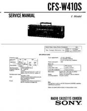 Buy Sony CFS-W410S Service Manual by download Mauritron #239004