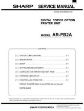 Buy Sharp SHARP AR-PB2A SERVICE & PARTS Service Manual by download Mauritron #21065
