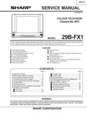 Buy Sharp 29BFX1 (1) Service Manual by download Mauritron #207601