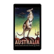 Buy Australia Tourism Kangaroo Retro Travel Art Vinyl Magnet