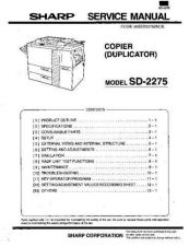 Buy Sharp SHARP SD-2275 SERVICD Service Manual by download Mauritron #210667