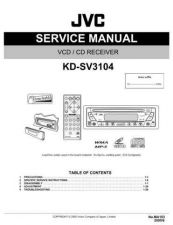 Buy JVC KD-SV3104 Service Manual Schematic Circuit. by download Mauritron #271606