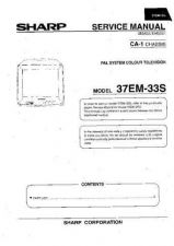 Buy Sharp 37EM33S SM SUPPLEMENT GB Service Manual by download Mauritron #207791