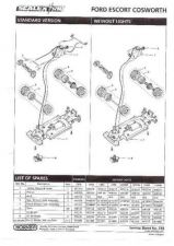 Buy Scalextrix No.314 Ford Escort Cosworth Service Sheets by download Mauritron #20