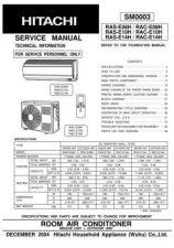 Buy Hitachi RAS18G4 RAC18G4 Service Manual by download Mauritron #264037