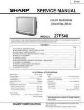 Buy Sharp 27F540 Service Manual by download Mauritron #207505