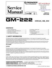 Buy PIONEER GM222 CRT2166 Technical Information by download #119252