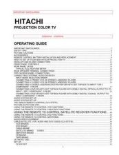 Buy Hitachi 61SBX59B Service Manual by download Mauritron #263243