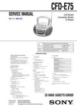 Buy Sony CFD-E75. Service Manual by download Mauritron #238801