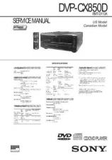 Buy Sony DVP-CX777ES Service Manual by download Mauritron #240482