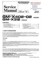 Buy PIONEER GMX402 GMX312 CRT1971 Technical Information by download #119255