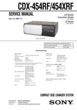 Buy Sony CDX-454RF454XRF Service Manual by download Mauritron #237463