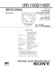 Buy Sony CPD-110GS110EST Service Manual by download Mauritron #239254