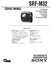 Buy Sony SRF-M32 Service Information by download Mauritron #238074