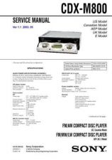 Buy Sony CDX-M7810-M7815X-M7850 Service Manual by download Mauritron #238614