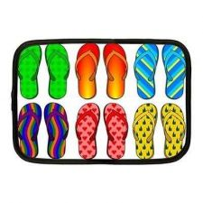 Buy Flip Flops Beach Shoes Neoprene 10 Inch Netbook Case