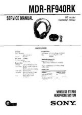 Buy Sony MDR-RF940RK Service Manual. by download Mauritron #242619