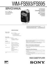 Buy Sony WM-FS593-FS595 Service Manual. by download Mauritron #245738