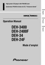 Buy Pioneer 49989 Operation manual DEH-3400 20023151222301100 by download Mauritron