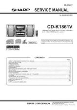 Buy Sharp CDK1861V Service Manual by download Mauritron #208624