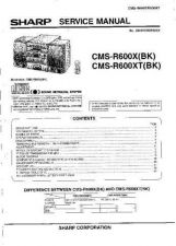 Buy Sharp CMSR600X-XT (1) Service Manual by download Mauritron #208738
