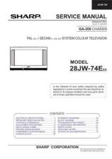 Buy Sharp 28JW74E-EES Service Manual by download Mauritron #207562