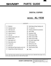 Buy Sharp SHARP AL-1530 PARTS Service Manual by download Mauritron #210626