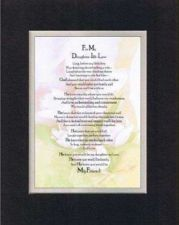 Buy Poem for For Daughter-In-Law 11x14 BlackOnWhite DoubleBeveled Matting