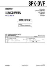 Buy Sony SPK-DVF. Service Manual. by download Mauritron #244331