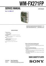Buy Sony WM-FX271FP Service Manual. by download Mauritron #245770