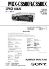 Buy Sony MDX-C8500RC8500X Service Manual. by download Mauritron #242756