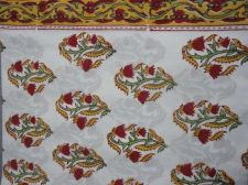 Buy new Indian Hand Made 100% cotton fabric hand block printed fabric by 5 yards