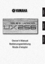 Buy Yamaha UX256E Operating Guide by download Mauritron #205504