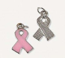 Buy Breast Cancer Awareness Pink Ribbon Charms Necklace Bracelet Anklet -12 pc