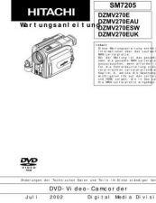 Buy Hitachi DZMV380A Service Manual by download Mauritron #261961