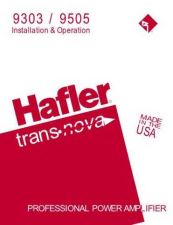 Buy HAFLER 9303 9505 Manual by download Mauritron #230003