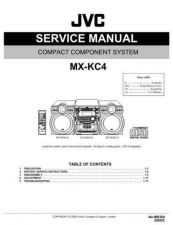 Buy JVC MX-KC4 SERVICE MANUAL by download Mauritron #220570