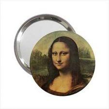 Buy Mona Lisa Da Vinci Art Round Handbag Purse Mirror