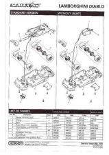 Buy Scalextrix No.303 Lamborghini Diablo Service Sheets by download Mauritron #2063
