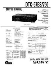 Buy Sony DTC-55ES-75ES-700 Service Manual by download Mauritron #240447