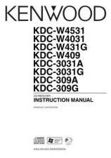 Buy Kenwood KDC-W4531 W4031 W409 3031A 3031G-CROATIAN Operating Guide by download M