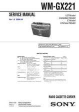 Buy Sony WM-GX221. Service Manual. by download Mauritron #245858