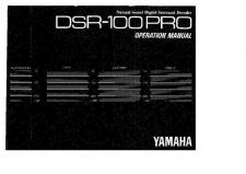 Buy Yamaha DSR100PRO Operating Guide by download Mauritron #247614