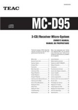 Buy Teac MC-D95(EF) Service Manual by download Mauritron #223782