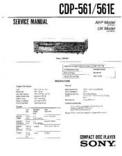 Buy Sony CDP-561.561 Service Manual by download Mauritron #237236