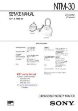 Buy SONY NTM30 Technical Info by download #104821